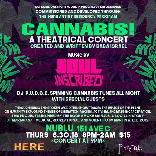 Cannabis theatrical concert